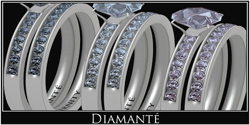 :Diamante: Eternity Diamonds Bridal Sets by Alliana Petunia