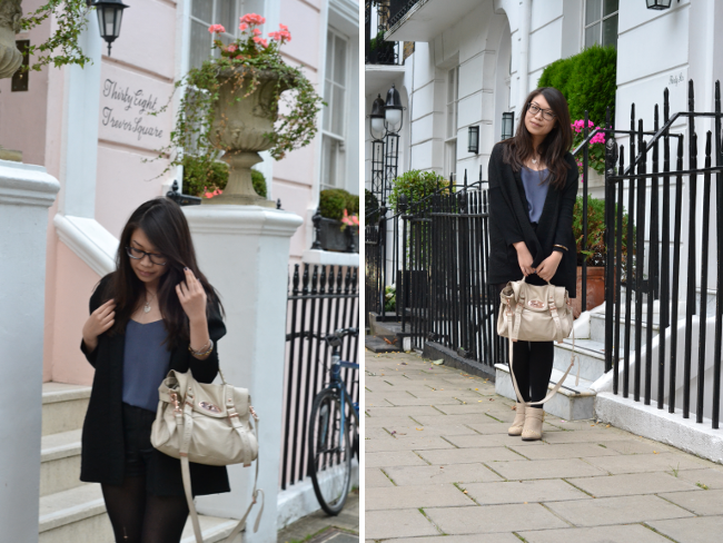 Daisybutter - UK Style and Fashion Blog: what i wore, ootd, uk fashion blogger, how to wear camisoles, chloe boots, bulgari hotel, midnight in paris, matalan movie club