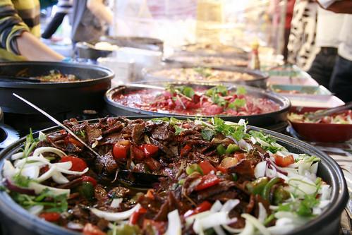 Brick Lane Market oriental food