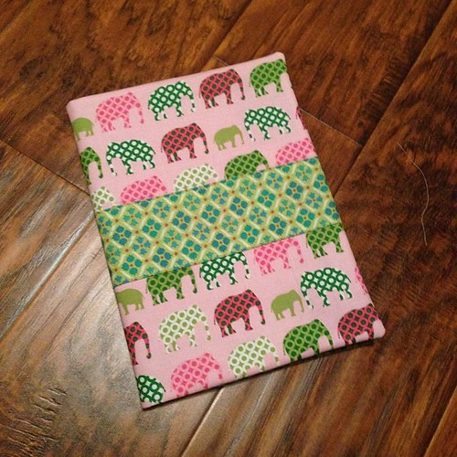 126:365 Teacher Appreciation Week & tomorrow's theme is Stationary -so I made a notebook cover (with elephants since she loves all things elephant).