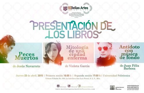 El IPBA invita a la presentación de los libros Mitología de una ciudad enferma, Antídoto con música de fondo y Peces Muertos.