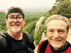 Myself and Ray at the top of Raven Rocks today
