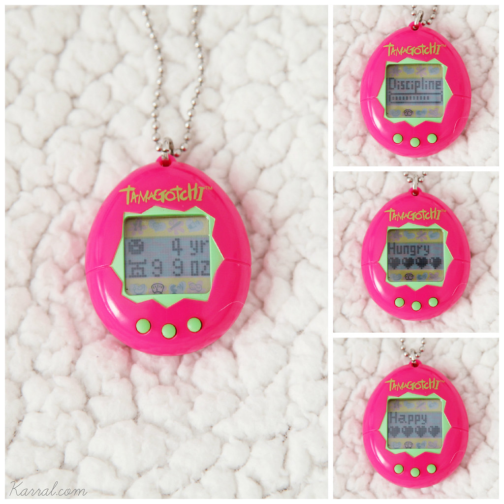 Tamagotchi V1 screen stats : age weight discipline hunger happiness