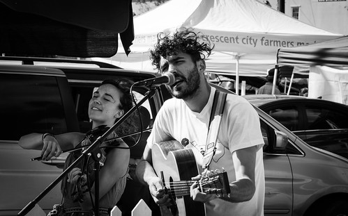 Jamming at the Crescent City Farmers Market by Geoff Livingston