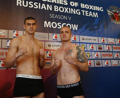 09/05/2015 Quarter Finals Weigh In Russian Boxing Team vs Italia Thunder Leg 1