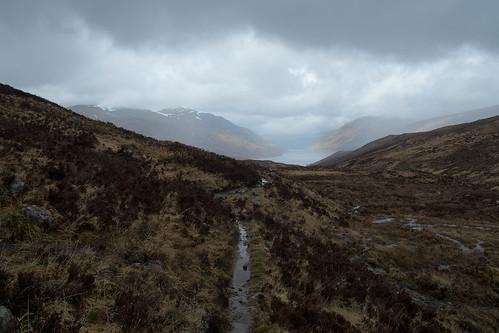 Gleann Lolairean descent to Loch Treig