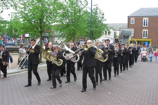 Boarshurst Band, Armentieres Square, Stalybridge