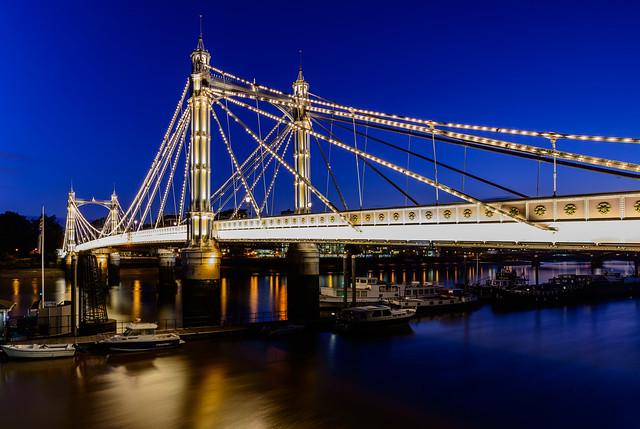 Albert Bridge - Evening Blue Hour