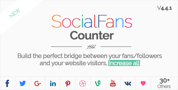 SocialFans v4.4.1 - WP Responsive Social Counter Plugin