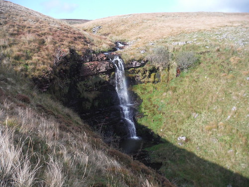 Sgwd Ddu (Black Waterfall) on the Afon Haffes (the Haffes River)