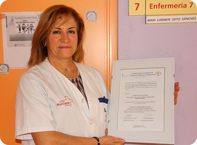 Una enfermera del Centro de Salud de Los Barreros premiada en un Congreso Nacional