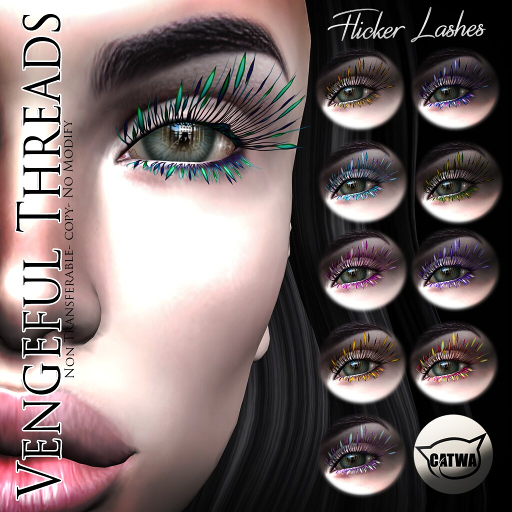 Vengeful Threads - Catwa Lashes - Flicker Lashes - SecondLifeHub.com