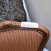 Ornate mahogony Italian armchair