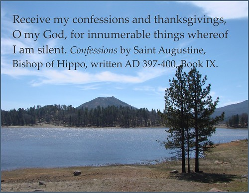 Augustine on confessing and giving thanks.