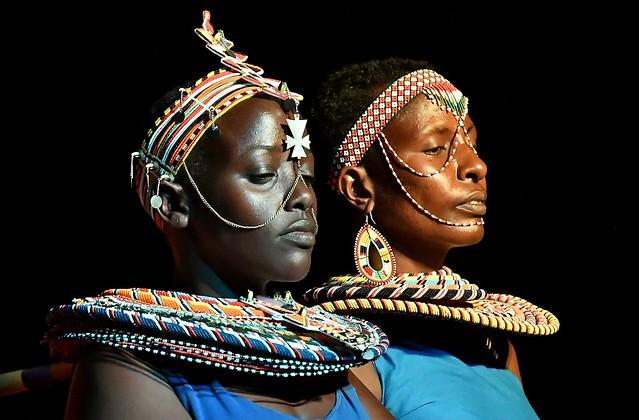 Samburu women - night shot.