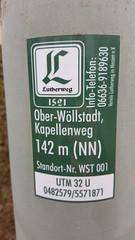 Lutherweg Wöllstadt
