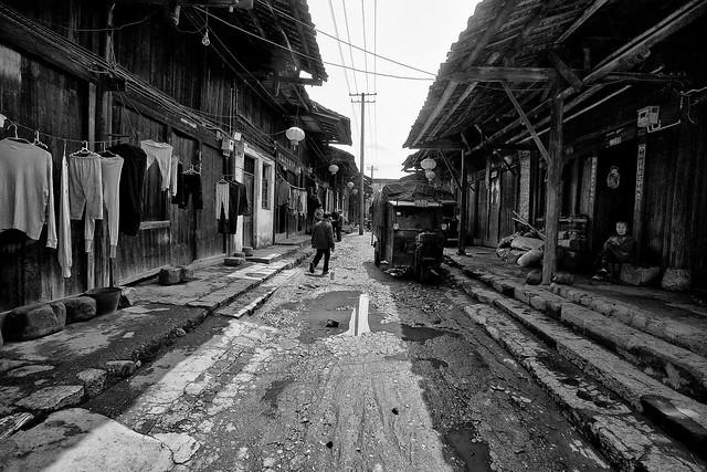 Fotos chinas. Otra calle en otro lugar perdido