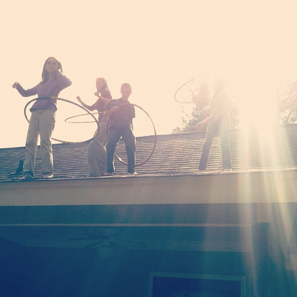 Tackling fear of heights with roof #hooping #fpl #freeplaylife