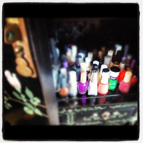 Cabinet of Nail polish
