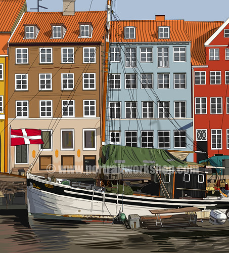 digital illustration of Danish background artwork for SPH Magazines