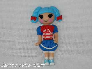 Lalaloopsy Sailor - Marina Anchors Doll  / True Heart Bear - Polymer Clay Bead / Charm / Bow Center