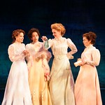 The women compare the gifts they've been given by the men in the Huntington Theatre Company's production of Shakespeare's comedy,