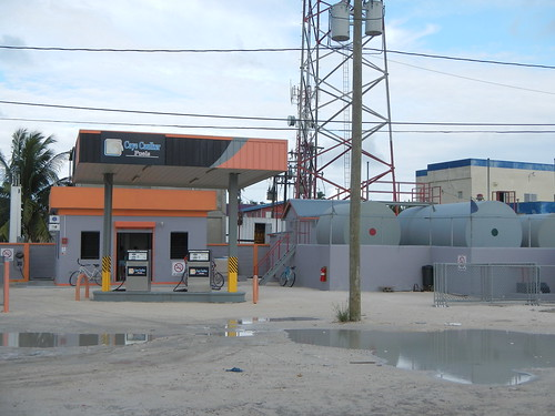 Gas station on Caye Caulker