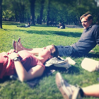 Arvid och Linda i Humlegården