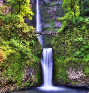 Multnomah Falls Upper and Lower