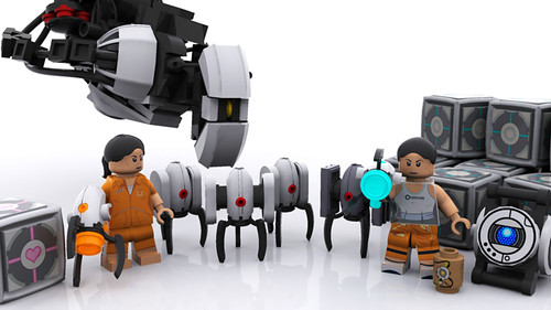 Portal minifigs and misc.
