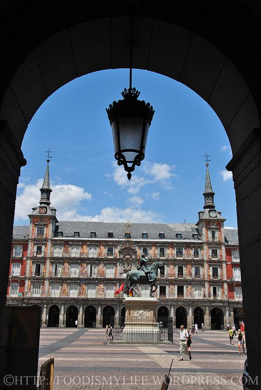 One of Plaza Mayor entrance