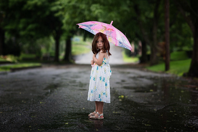 On the 5th day of Summer the rain hit the kids - Beautiful Portraits of Kids