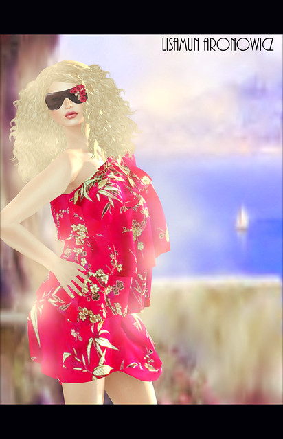 Elle HotPink Dress and Galina Hair