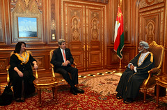 Secretary Kerry and Ambassador Holtz Meet With Omani Sultan Qaboos bin Said Al Said