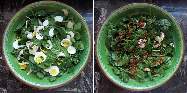 warm and smoky spinach salad