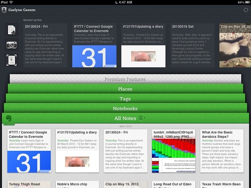 Evernote on iPad