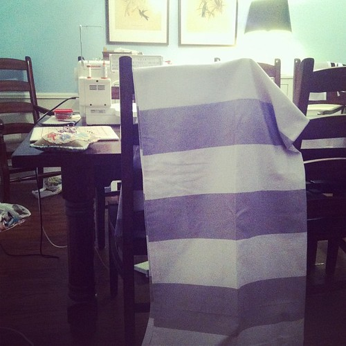 I really hate making drapes, but I despise even more dropping coin on what I can make. #crateandbarrelknockoffs