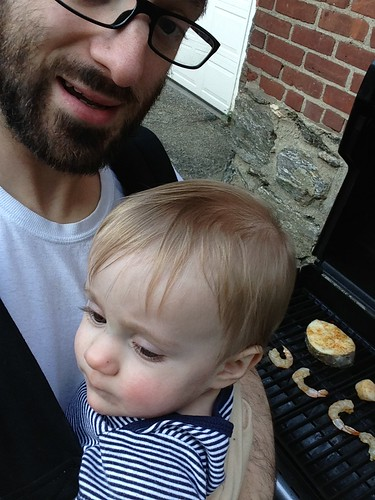 Martin Grilling with Daddy