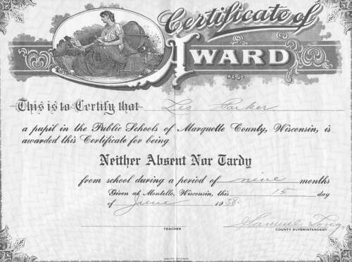 Leo Parker Attendance Award