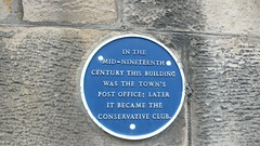 Photo of Conservative Club, Barnard Castle and Post Office, Barnard Castle blue plaque