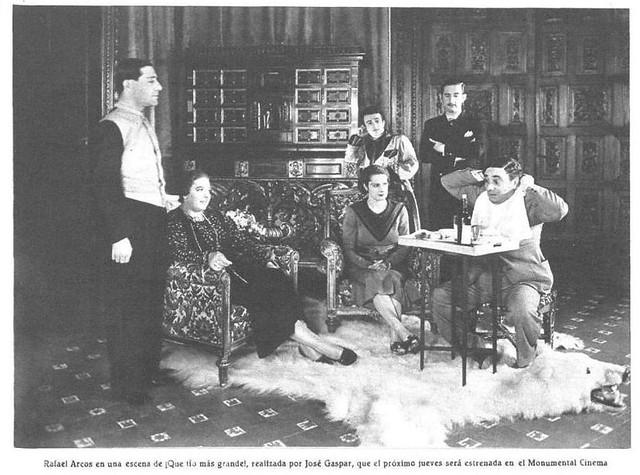 Rodaje de ¡Qué tío más grande! en el Palacio de la Sisla en 1935