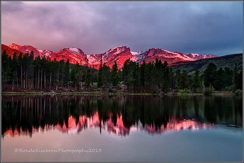 morning lake nature sunrise landscape colorado hiking scenic rockymountainnationalpark spraguelake alpineglow coloradolandscape halletpeak