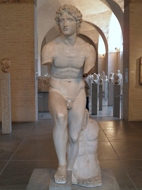 "The so-called ""Alexander Rondanini"", ancient copy of a 338 BC statue group by Euphranor, Glyptothek, Munich"