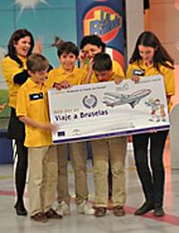 Alumnos ganadores del colegio Portaceli
