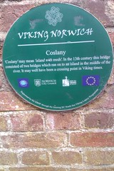 Photo of Coslany green plaque