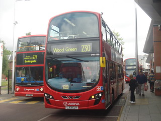 Arriva London DW536 on Route 230, Walthamstow Central/Hoe Street Bus Station