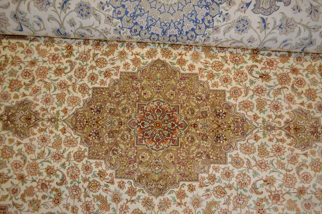 Qum Mohammadi Super Fine Pure Silk Persian Area Rug