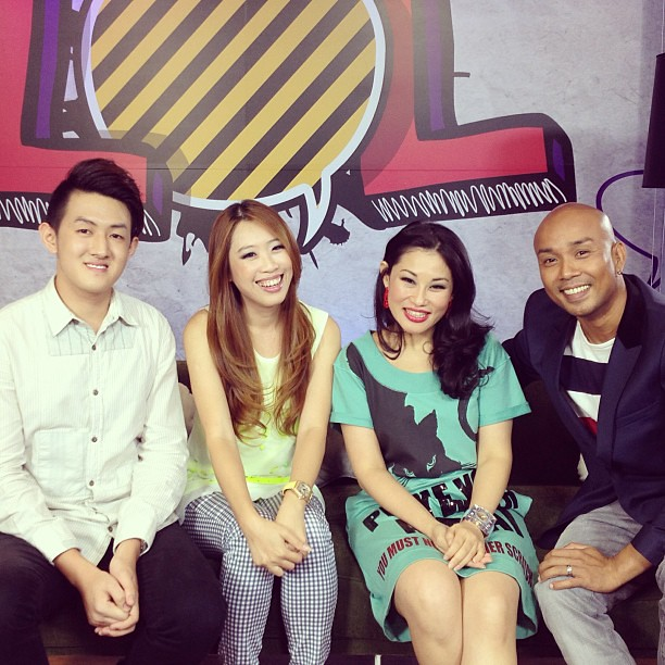 Just finished taping for LOL season 2 L-R: Peter Yeo, Me, Denise Tan, Marcus #lol #lol2 #scape park #toggle