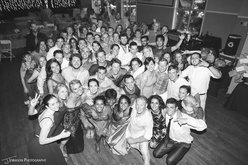 orcas island wedding group photo