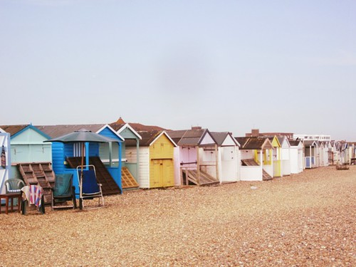 Beach huts by PhotoPuddle